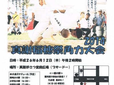 2014年6月12日(木)2014 真謝稲穂祭角力大会 / 久米島・真謝菩薩堂