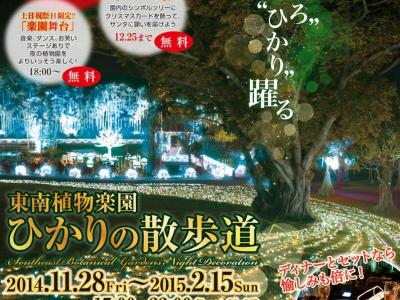 2014年11月28日(金)~2015年2月15日(日)東南植物楽園 ひかりの散歩道 / 沖縄市・東南植物楽園