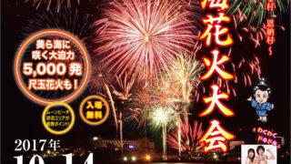 第3回恩納村美ら海花火大会のフライヤー表面