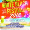 2018年ホワイトビーチフェスティバルのフライヤー